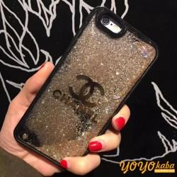 シャネルロゴ付き iphoneX/8plus キラキラケース アイフォン8/7プラスカバー Chanel ファッション