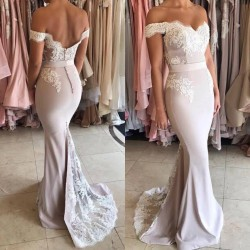 Off The Shoulder Lace Mermaid Formal Evening Dress Cheap 2018 Open Back Ball Dresses_Evening Dre ...