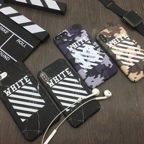 iphoneX ケース オフホワイト off-white ブランド 欧米系 アイフォン8プラス 若者好き ブーム iphone8  ...