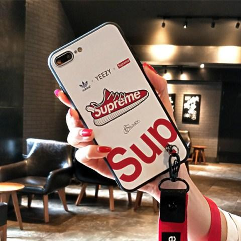 シュプリーム supreme ブランド コラボ アディダス adidas iphone8 ケース iphoneX カバー 個性 iphone ...