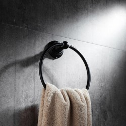 home decor : Oil Rubbed Bronze Towel Ring- a premium accessory for your bathroom
