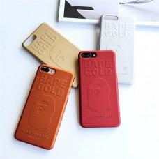 bape ケース iPhone7カバー 純色 エイプカバー アイフォーンx カバー 金属質感 iPhone8 plusハードカバ ...