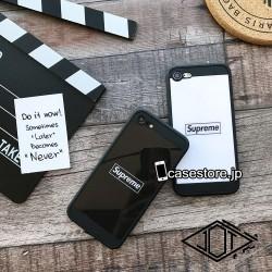 アイフォン X/8/7/6s ケース おすすめシンプル風7plusカバー黒白シュプリームsupreme個性的ストリート ...