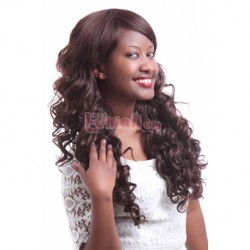 60cm Long Dark Brown Wavy Fashion Wigs FL12 – L-email Cosplay Wig