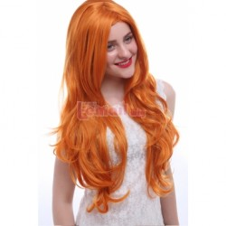 75cm Long Orange Red Cosplay Wig CB65B – L-email Cosplay Wig