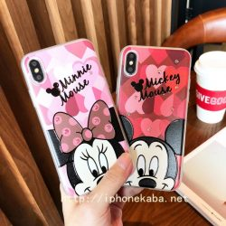 Disney ディズニー ミッキーマウス iPhoneXケース 耐衝撃 可愛い アイフォン7ケース カップル