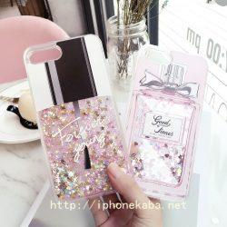 iPhone8/7 plusケース クリア アイフォン6 plusカバー 香水瓶 流れ砂 キラキラ オシャレ レディース キ ...