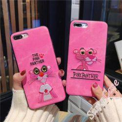 オリジナル ピンクパンサー柄 アイフォンXケース アップリケ iphone8ケース カッコイイ iphone7plusカ ...