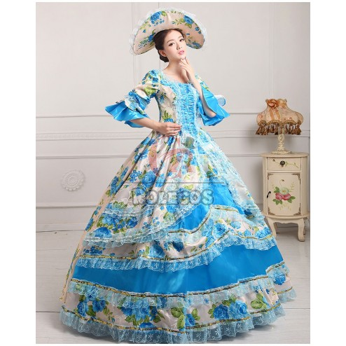 Womens Royal Vintage Medieval Dress Lady Gothic Victorian Costume Fancy Dress