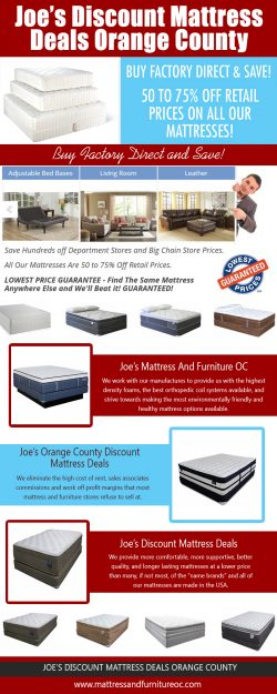 Joe's Discount Mattress Deals Orange County