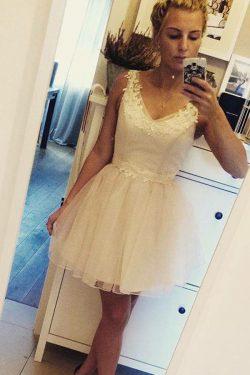 White Short/Mini Homecoming Dress   Little White Dress