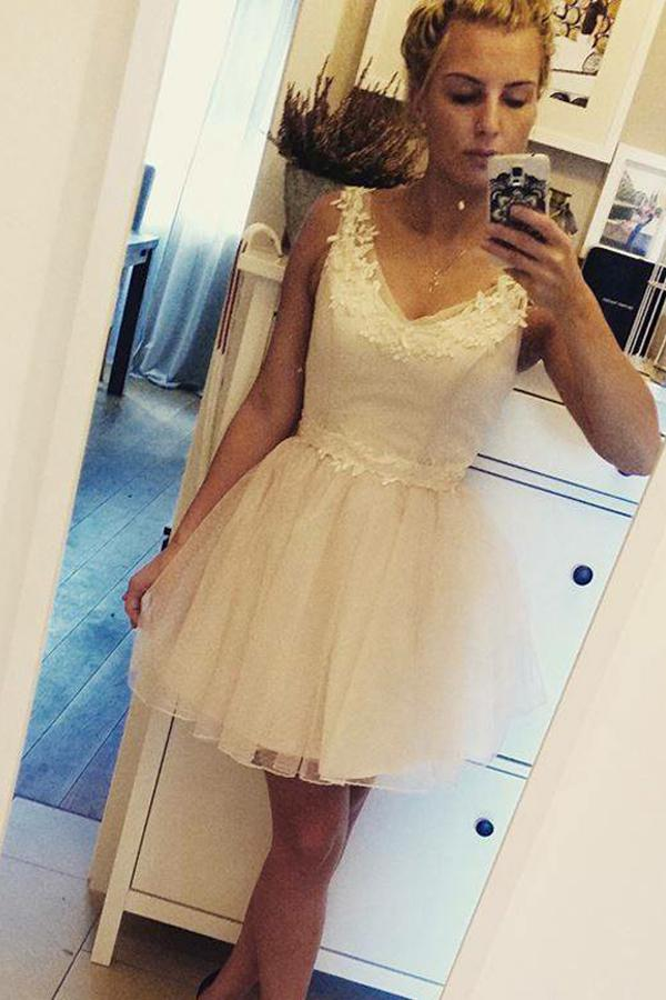 White Short/Mini Homecoming Dress | Little White Dress