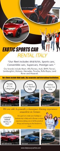 Exotic Sports Car Rental Italy