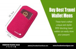 Buy Best Travel Wallet Mens | https://www.freedomtravelgear.com/