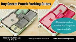 Buy secret pouch packing cubes | https://www.freedomtravelgear.com/