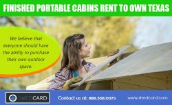 Rent to own finished cabins near me