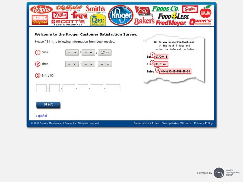 KrogerFeedback.com – Win a $5,000 Kroger Gift Card – Restaurant Surveys |