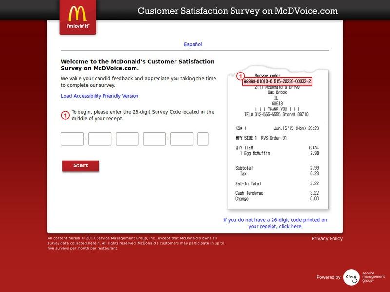 McdVoice.com – Free McDonalds Coupon Code – Restaurant Surveys  