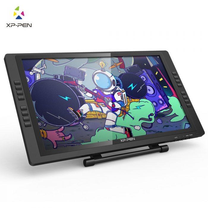 XP-Pen 22E Pro Tableta Digital de Dibujo Gráfico HD IPS Monitor con Teclas Express y Soporte Aju ...