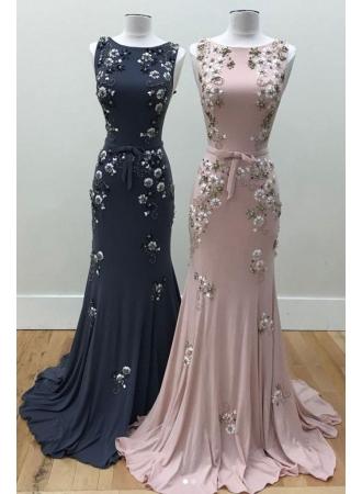 Luxury Abendkleider Lang Günstig Rosa Meerjungfrau Abiballkleider Abendmoden